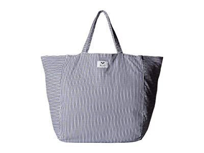 Roxy Time Is Now Tote (Dress Blue Cornfield Stripe) Tote Handbags