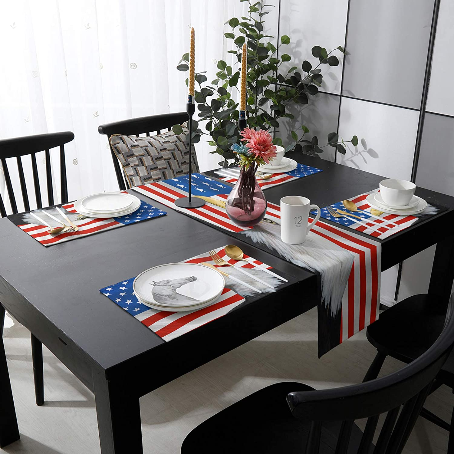 Womenfocus sold out Outdoor Table Runner and online shopping Placemats 6 Kitchen Heat-Pr