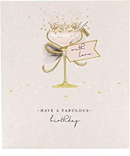 UK Greetings Birthday Card for Her - Friend Birthday Card - Elegant Cocktail Design, 386980-0-1