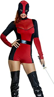 ForPlay Women's Hunt You Down Sexy Movie Character Costume, red