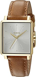 Nixon Women's A4721425-00 K Square Analog Display Japanese Quartz Brown Watch