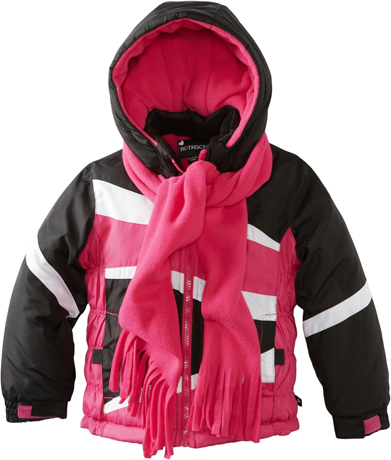 Rothschild Little Girls' Rouched Colorblock Jacket
