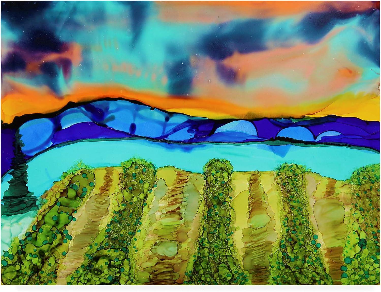 Trademark Fine Art Mountain Vineyard by Michelle McCullough, 14x19