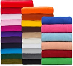 Polar Fleece Fabric,Quality Material,International Approved Test Report for Anti Pill Finish. 27 Fashion Colors,Medium 320Grams Weight. PlushPile,Garments,Home Décor,Crafts (Nude Peach 1 M)