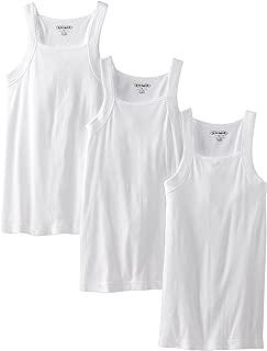 papi Men's 3-Pack Cotton Square Neck Tank Top
