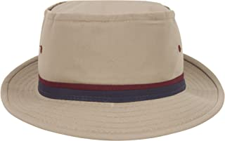 TOP HEADWEAR Packable Pork Pie Ribbon Bucket Hat