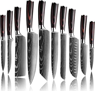 Küchenmesser, Scharfe Kochmesser aus Edelstahl in Mehreren Größen mit Bequemen Griff, Kochmesser Gegen Rost für die Küche / das Restaurant zu Hause 10pcs