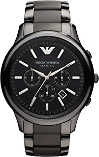Emporio Armani Dress Watch Analog Display Quartz for Men Black AR2453 Standard