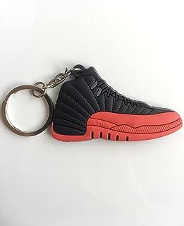 Jordan Retro 12 Flu Game Sneaker Keychain Shoes Keyring AJ 23 OG