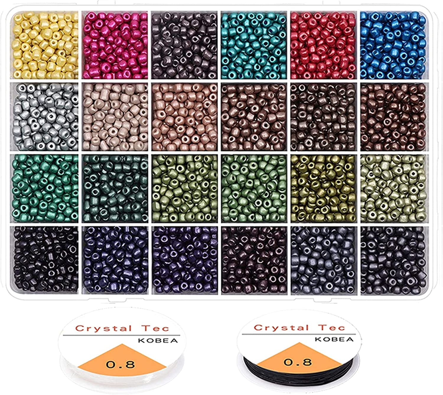 Under blast sales kengbi Colorful Max 55% OFF Seed Bead Kit Jew for Pearl Craft Beads