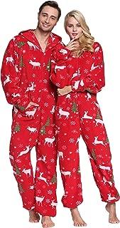 Women's & Men's Hooded Fleece Onesies One-Piece Pajamas