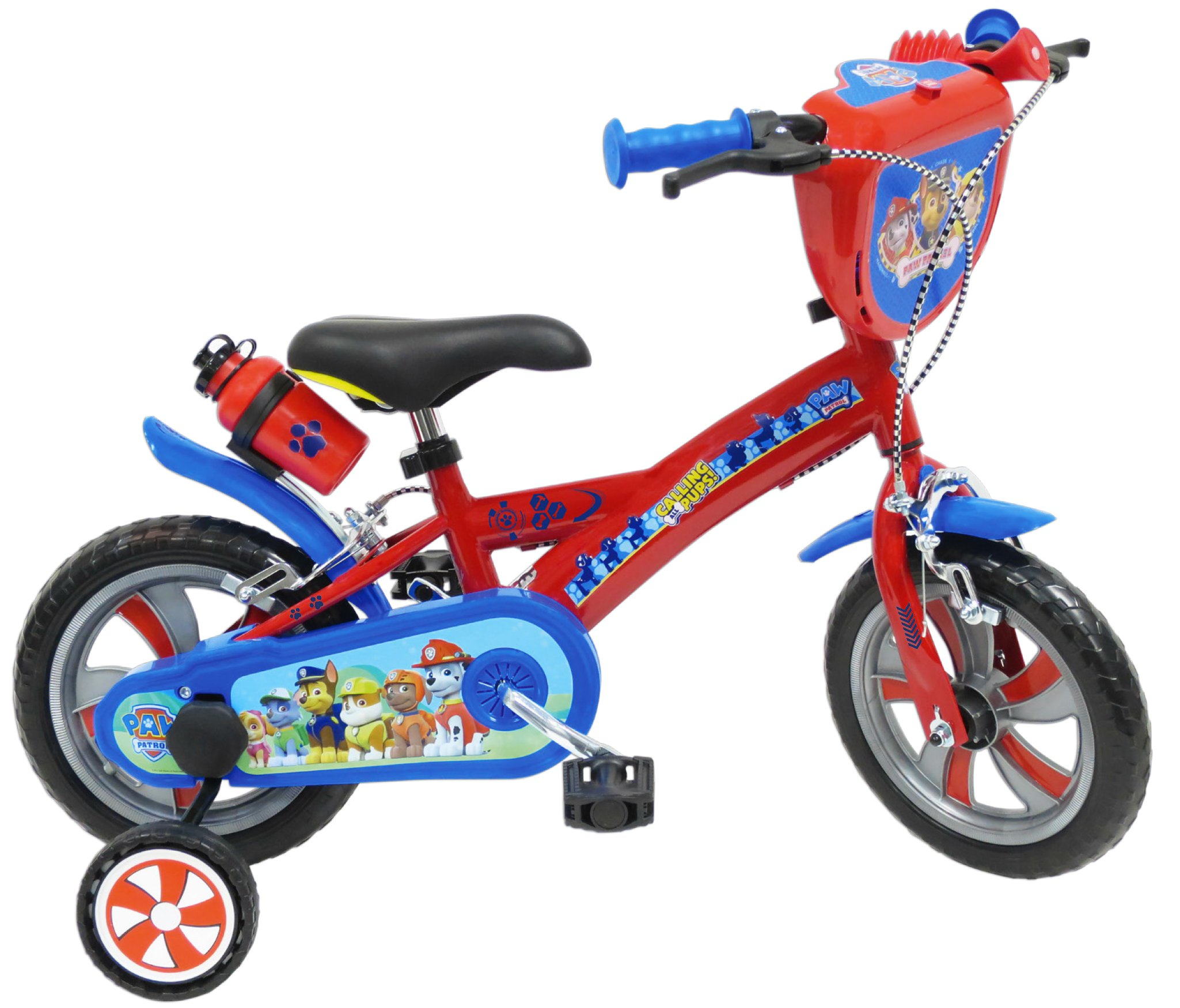 PAW PATROL Fahrrad für Kinder, Kinder, Pat' Patrouille, blau, 12