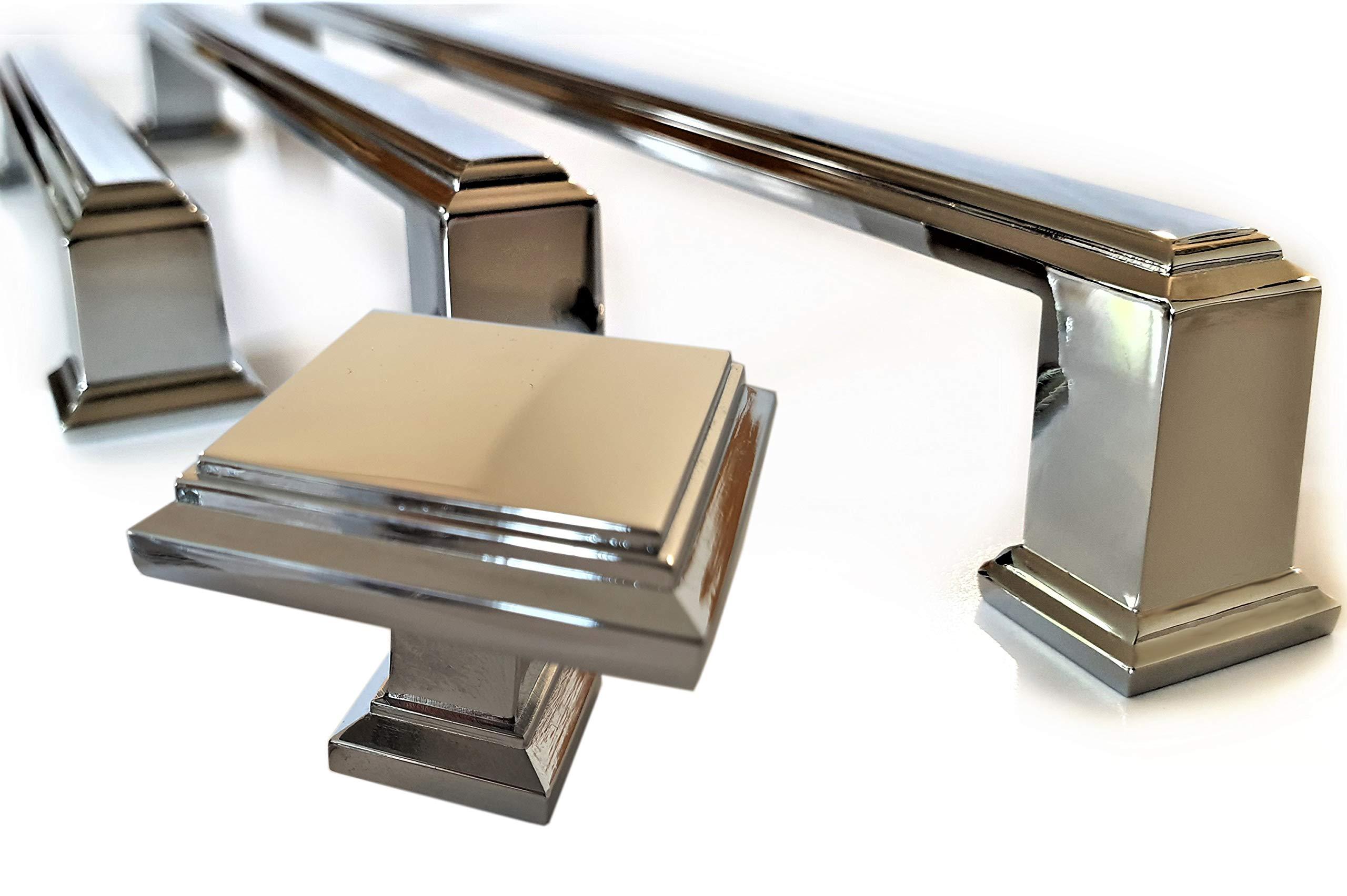 Set Of 6 Art Deco Style Handles Polished Chrome Cupboard Drawer Bedroom Furniture Cc Size 192mm Buy Online In Andorra At Andorra Desertcart Com Productid 149906064