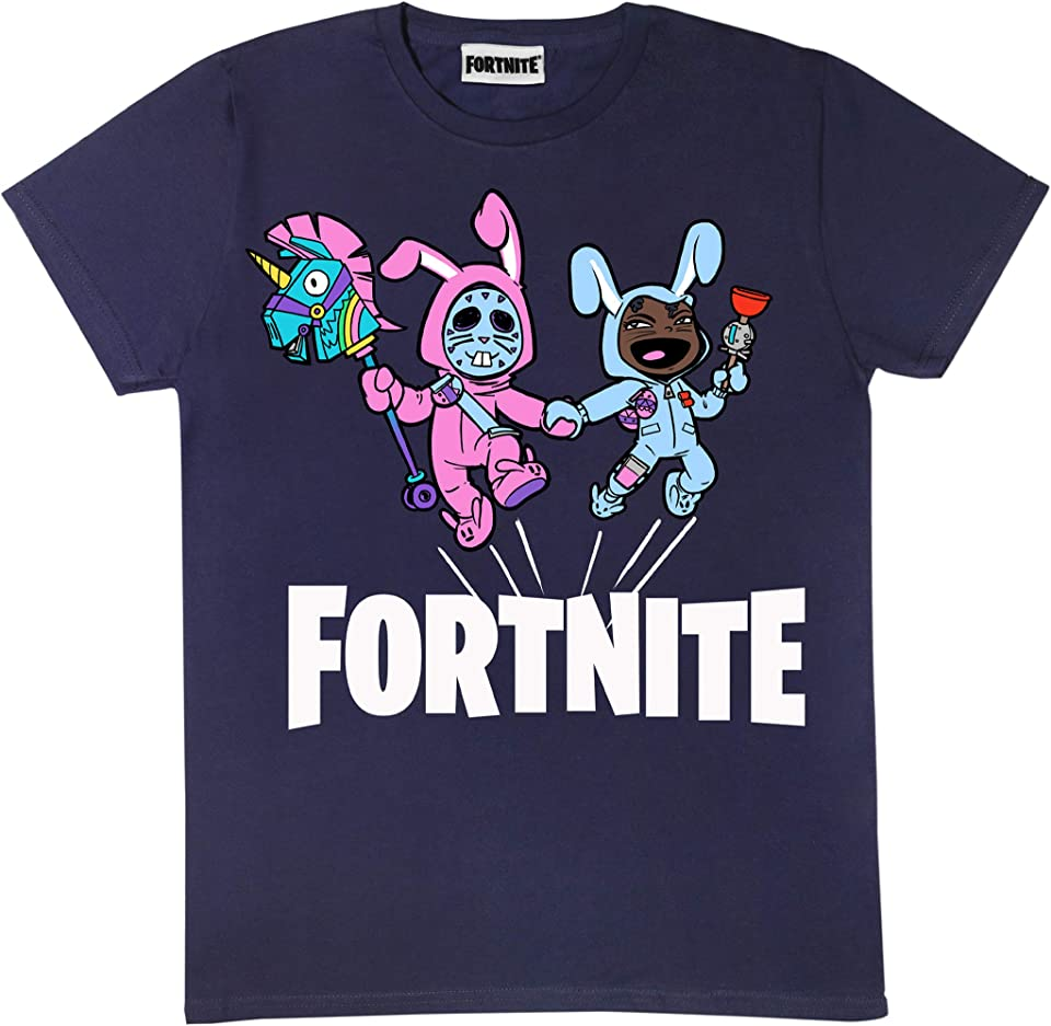 Bunny Trouble Boys T-Shirt | Official Merchandise | PS4 PS5 Xbox PC Gamer Gifts, Tween Teen School Boys Gaming Top, Childrens Clothes, Kids Birthday Gift Idea