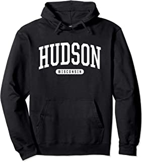 Hudson Hoodie Sweatshirt College University Style WI USA.