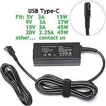 45W USB Type C AC Charger for HP Spectre x360 13 TPN-CA01;Lenovo Yoga 720 910 720-13IKB 910-13IKB;Miix 720-12ikb;IdeaPad 720s;Thinkpad X1 Tablet Yoga 5 Pro GX20M33579 Laptop Power Adapter Supply Cord