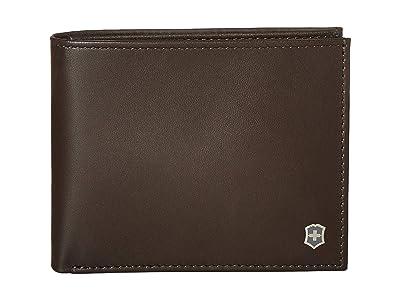 Victorinox Altius Edge Zenon Bifold Wallet w/ RFID (Dark Earth Leather) Bi-fold Wallet