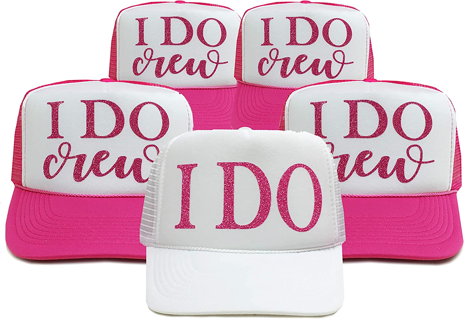 Classy Bride I DO Crew Bachelorette Party Hats  Set of 5