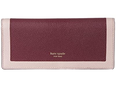 Kate Spade New York Margaux Bifold Continental Wallet (Cherrywood Multi) Checkbook Wallet