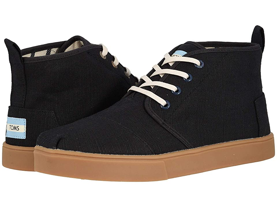 030ab1a1e0f TOMS Botas Cupsole (Black Heritage Canvas Cupsole) Men s Lace up casual  Shoes
