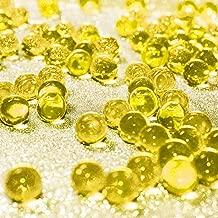 Hicarer 10000 Pieces Vase Filler Beads Gems Water Gel Beads Growing Crystal Pearls Wedding Centerpiece Decoration (Gold)