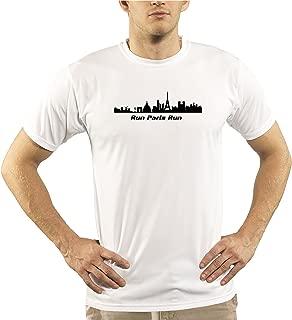 Split Time Men's Paris UPF Short Sleeve Running T-Shirt