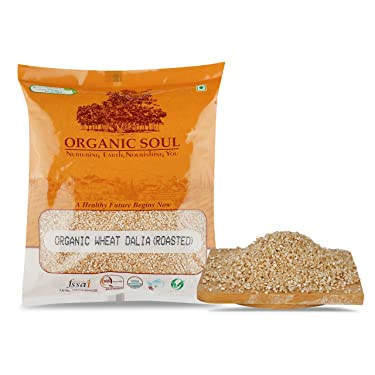 Organic Soul White Wheat Porridge ( Gehun Dalia / Gehoo Daliya ), 500g | High in Protein & Fibre