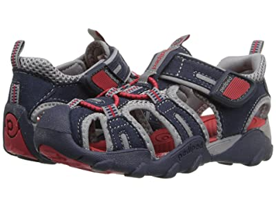 pediped Canyon Flex (Toddler/Little Kid/Big Kid) (Navy/Red) Boys Shoes