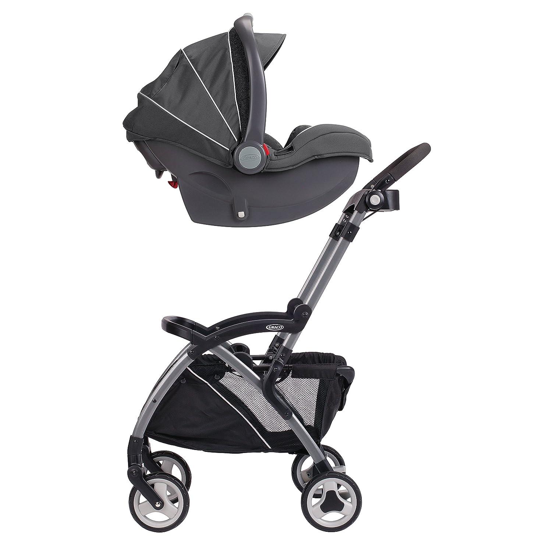 Graco SnugRider Elite Car Seat Carrier | Lightweight Frame Stroller | Travel Stroller Accepts any Graco Infant Car Seat, Black