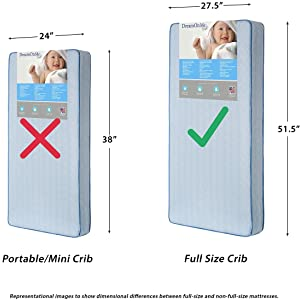 """Dream On Me, Twilight 5"""" 80 Coil Inner Spring Crib And Toddler Mattress I Waterproof I Green Guard Gold Certified I 1..."""
