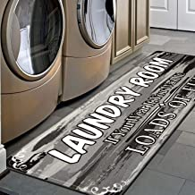 HEBE Farmhouse Laundry Room Rug Runner 2'x6' Washable Non Skid Kitchen Rugs Washhouse Mat Extra Long Printed Runner Rug Fl...