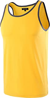 Men's Classic Basic Athletic Jersey Tank Top Casual T Shirts