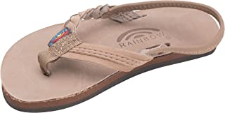 Rainbow Sandals Kid's Single Layer Premier Leather Flirty Braidy