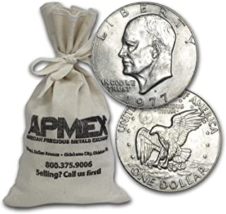 1971-1978 Clad Eisenhower Dollars $100 Face-Value Bags XF-AU $1 Extremely Fine