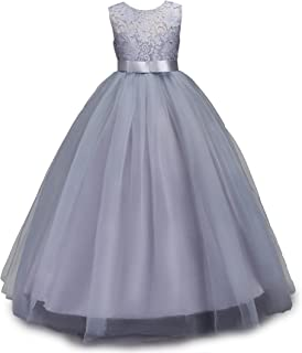 Big Girls Lace Bridesmaid Dress Dance Gown A Line Dresses