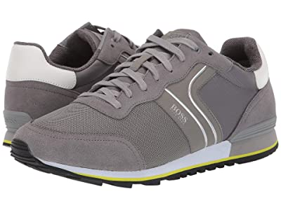 BOSS Hugo Boss Parkour Sneaker by BOSS (Medium Grey) Men