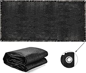 MicroMall 70% Sunblock Black Shade Cloth Anti-Aging 10 x 20 ft Sun Mesh UV Resistant Net,Edge with Buttonhole Hanging-up Sunblock Shade Panel for Garden Patio Plant Cover Greenhouse Pool Pergola