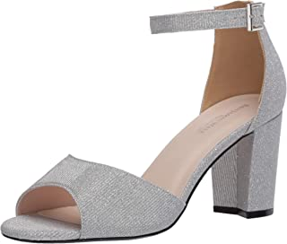 Touch Ups womens Amaya Heeled Sandal, Silver, 8 Wide US