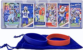 Buffalo Bills Cards: Josh Allen, Zay Jones, LeSean McCoy, Tremaine Edmunds, John Brown, Frank Gore ASSORTED Football Trading Card and Wristbands Bundle
