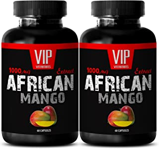 Weight Loss Herbs - African Mango Weight Loss - Fat Burning and Appetite SUPPRESSANT Pills - Cholesterol Complete - 2 Bottles (120 Capsules)
