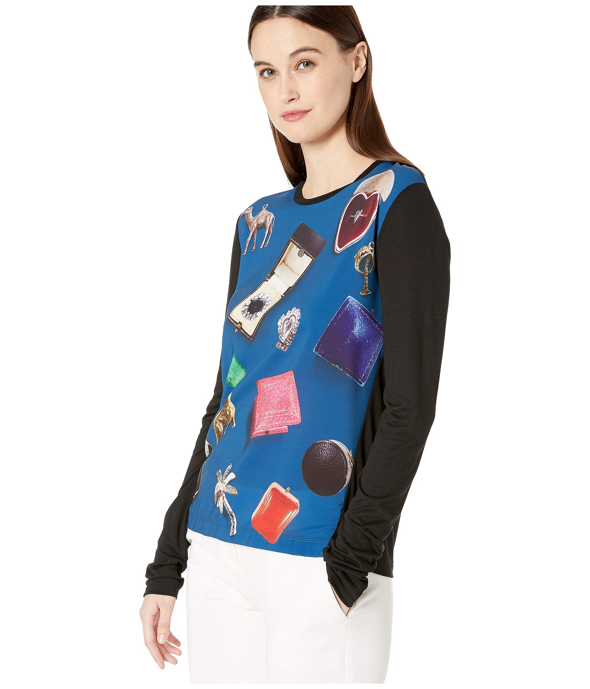 Printed Smith Multicolor Tee Long Picture Paul Sleeve EqBT7H7n