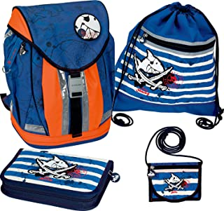 Captn Sharky Seven Seas Flex Style School Backpack Kit, 28 x 38 x