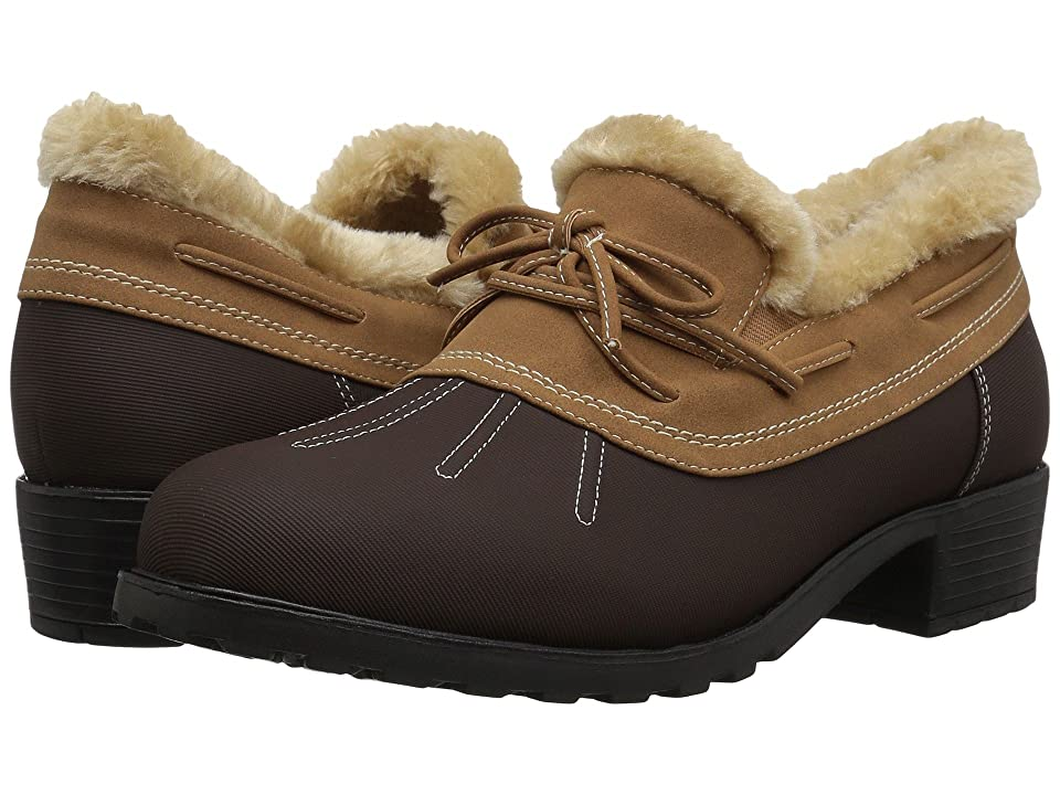 Trotters Brrr Waterproof (Dark Brown Rubberized Waterproof/Nubuck PU Waterproof/Faux Fur) Women