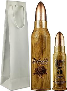 Geschenkidee Dbowa Polska Military groß  Mini in Geschenktüte | Sammlerstücke | Polnischer Wodka | 1 x 40%, 0,7 Liter, 1 x 40%, 0,05 Liter