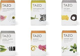 Tazo Tea 6 Flavor Variety Pack Sampler (Pack of 6, 120 Bags Total)