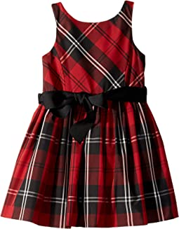 Belted Pleated Georgette Dress (Toddler)