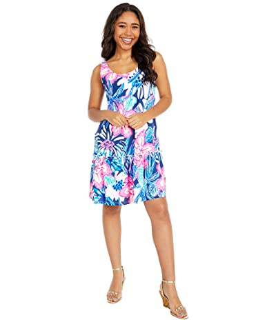 Lilly Pulitzer Skyelar Dress (High Tide Navy Sugar Mambo) Women