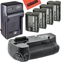 Battery Grip Kit for Nikon D7000 Digital SLR Camera - Includes MB-D11 Replacement Vertical Battery Grip + Qty 4 BM Premium EN-EL15 Batteries + Rapid AC/DC Charger