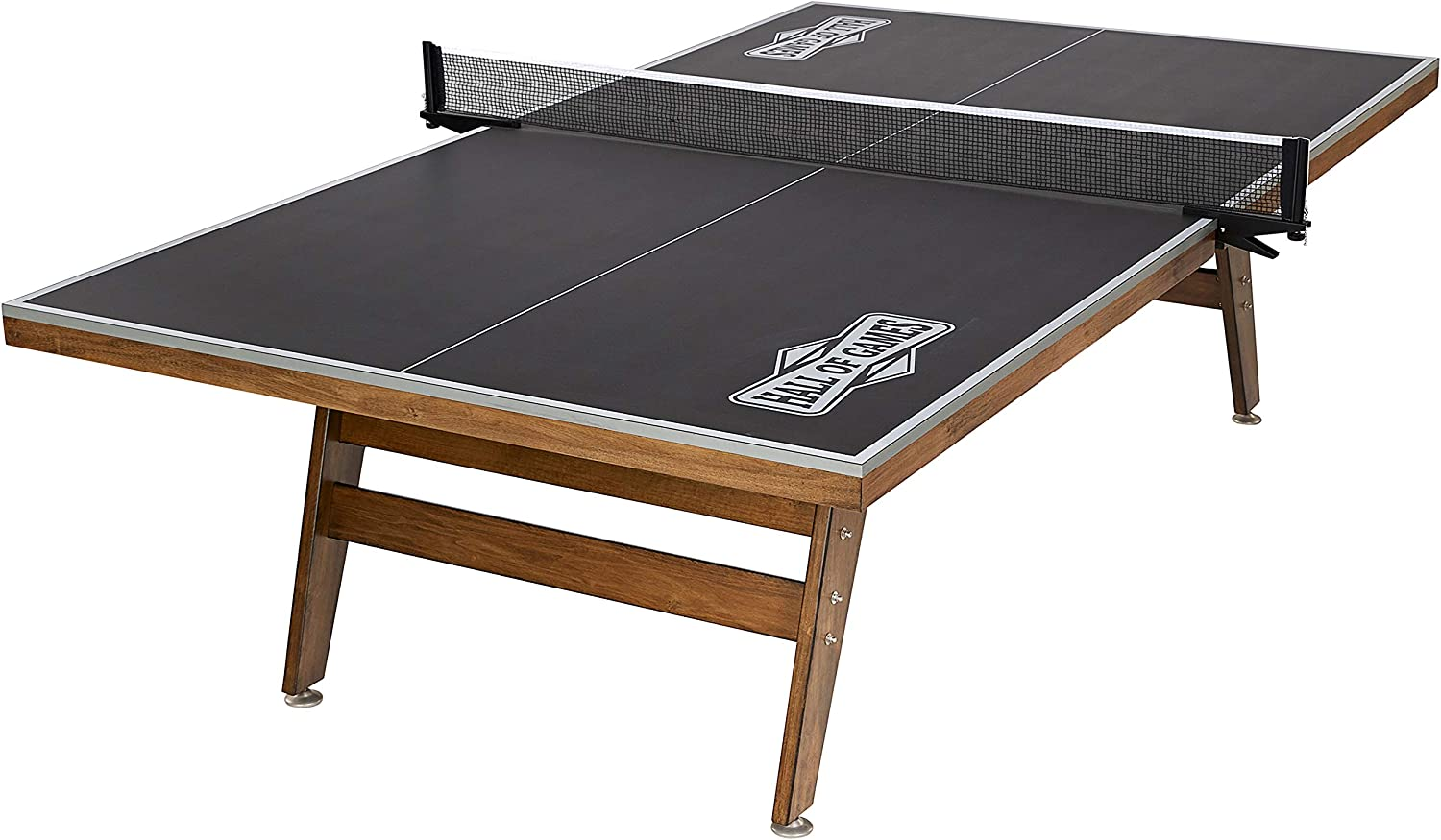 Hall of Games Official 選択 Size 注目ブランド Brown Table Wood Gray Tennis