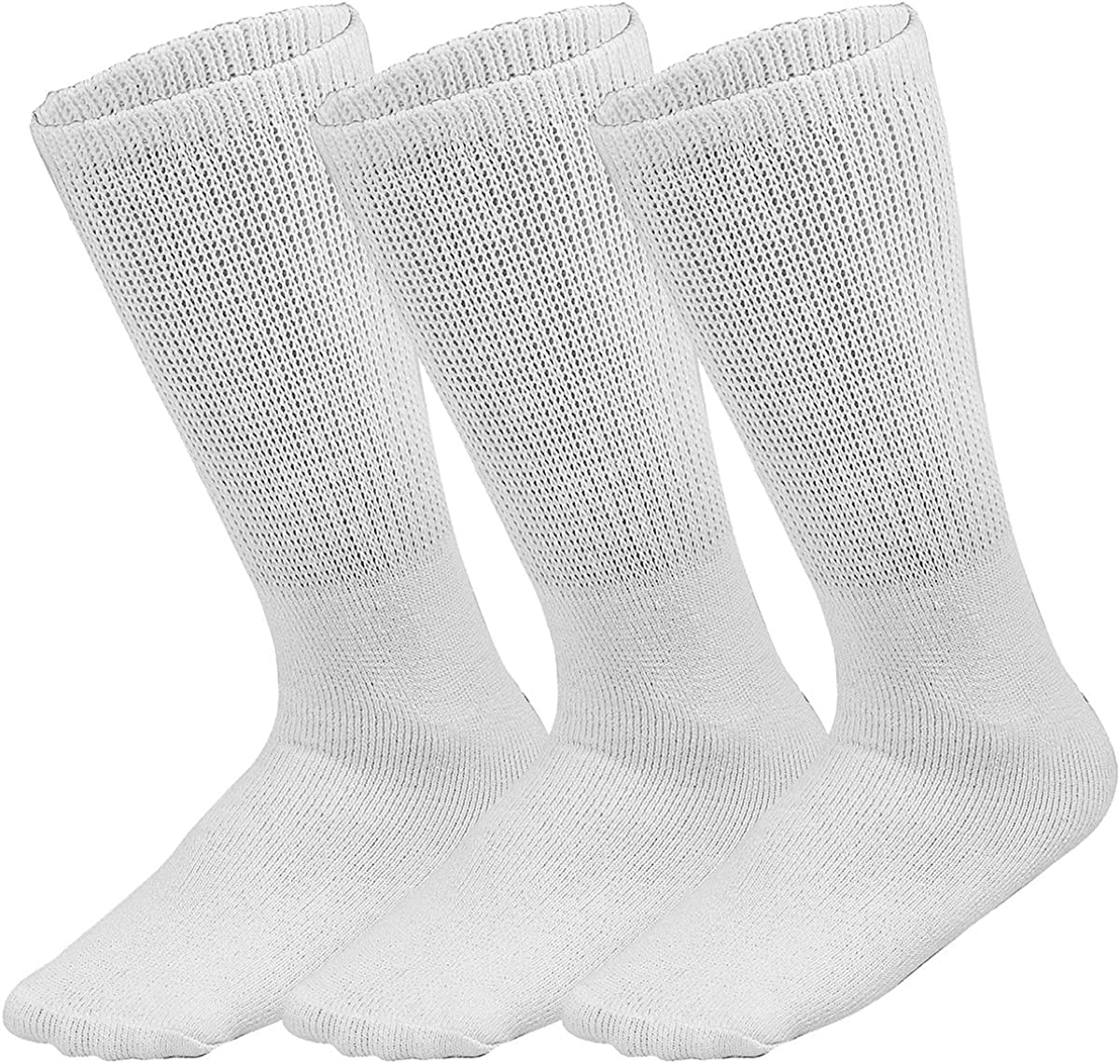 Falari 3-Pack Physicians Approved Diabetic Dedication Super sale Loose Crew Socks Fit